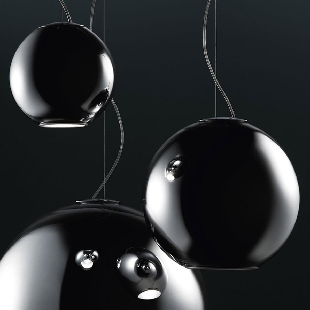 The globo di luce pendant lamp by fontanaarte fontanaarte globo di luce pendant luminaire chromed aloadofball Gallery