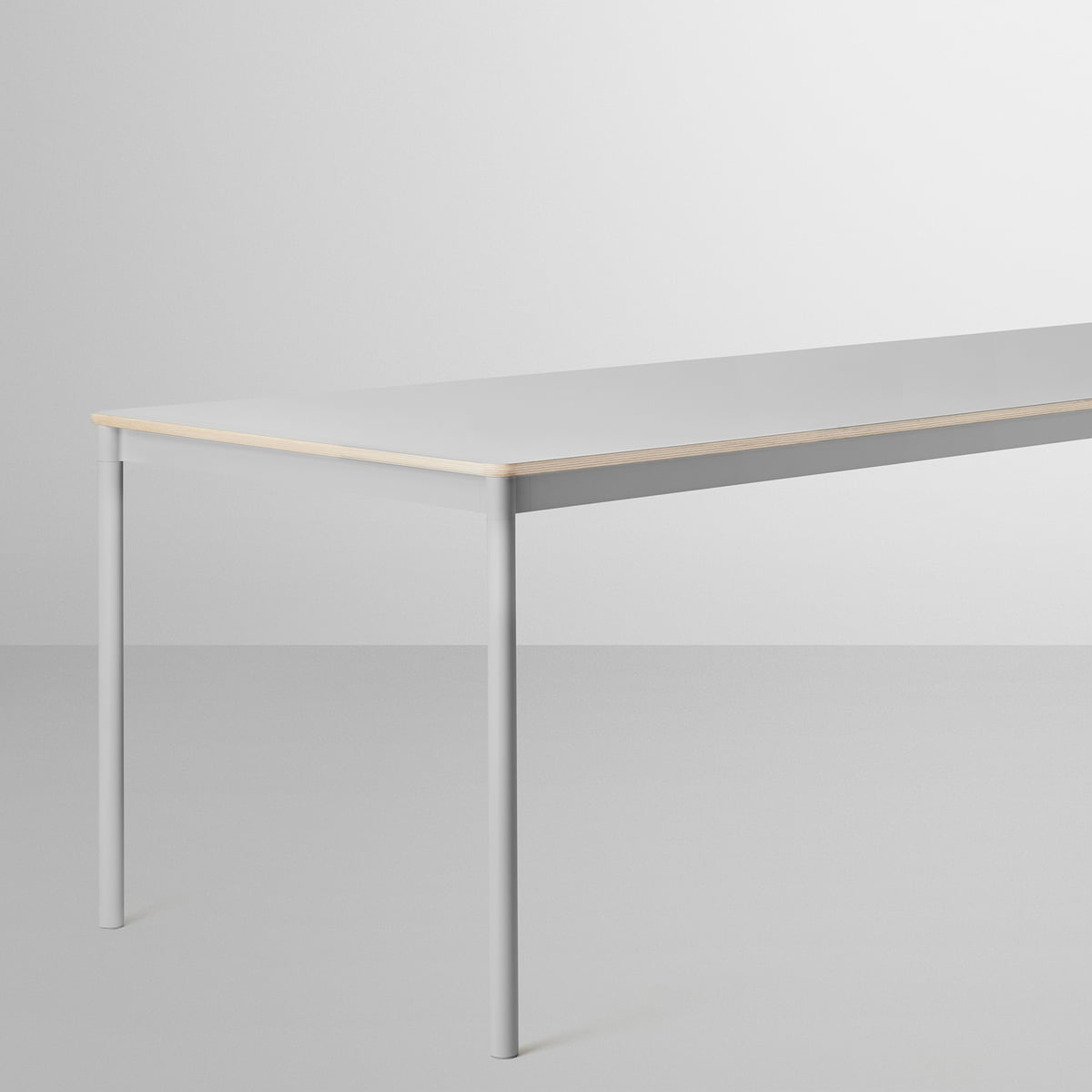 The Base Table in grey by Muuto