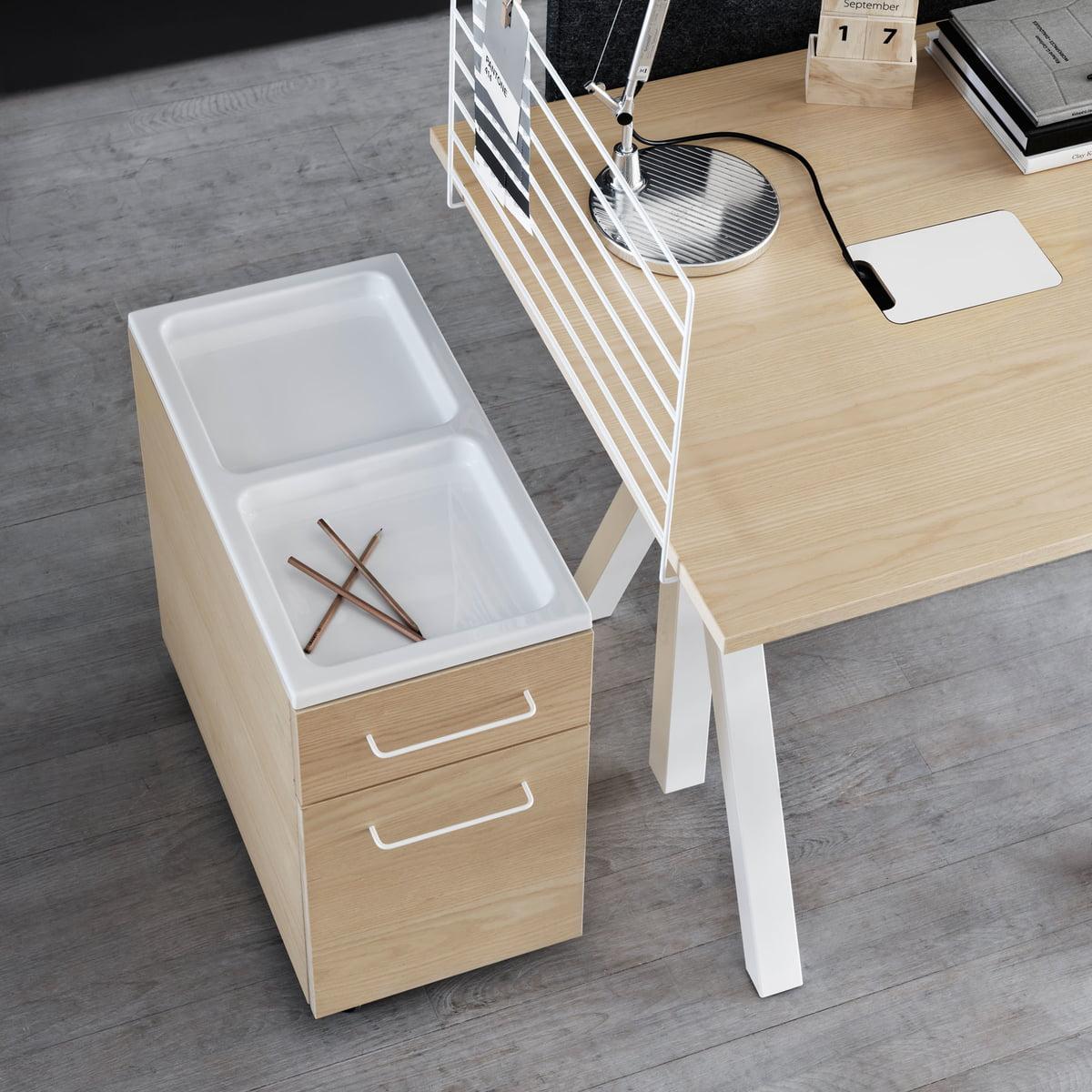 String Works Drawer Cabinet On Wheels