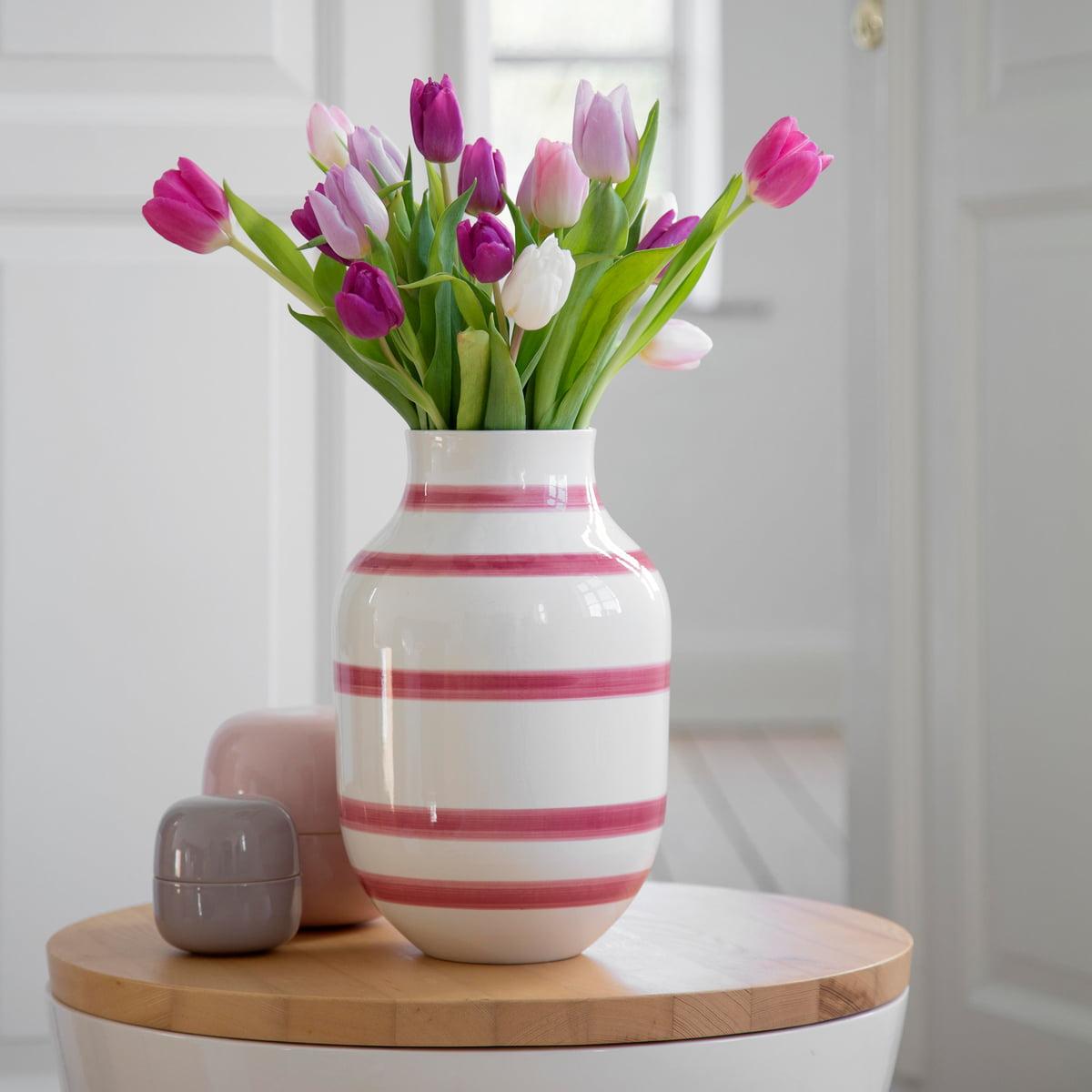 the omaggio vase h30 5 cm by k hler design in the shop. Black Bedroom Furniture Sets. Home Design Ideas