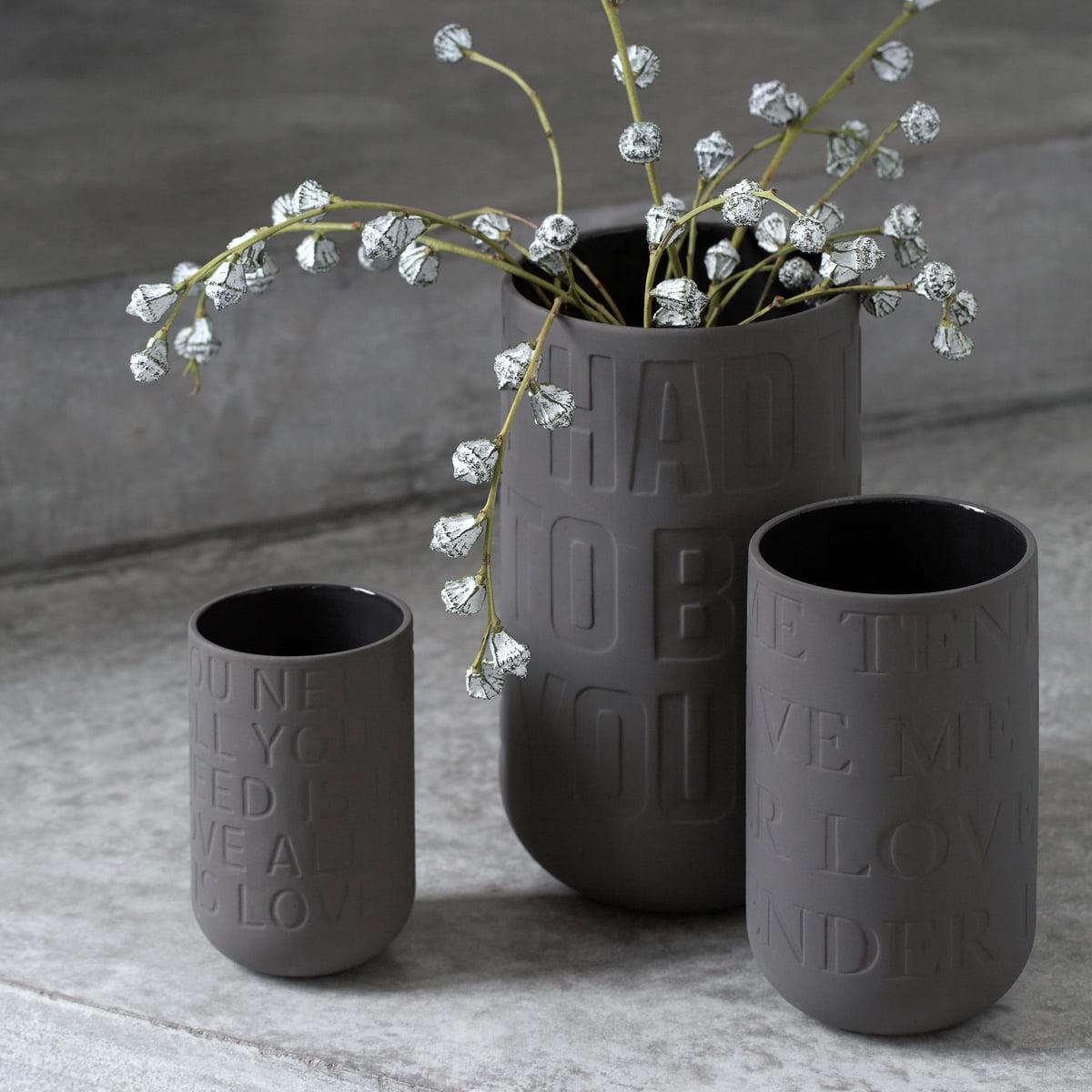 the k hler design love song vase h 22 cm. Black Bedroom Furniture Sets. Home Design Ideas
