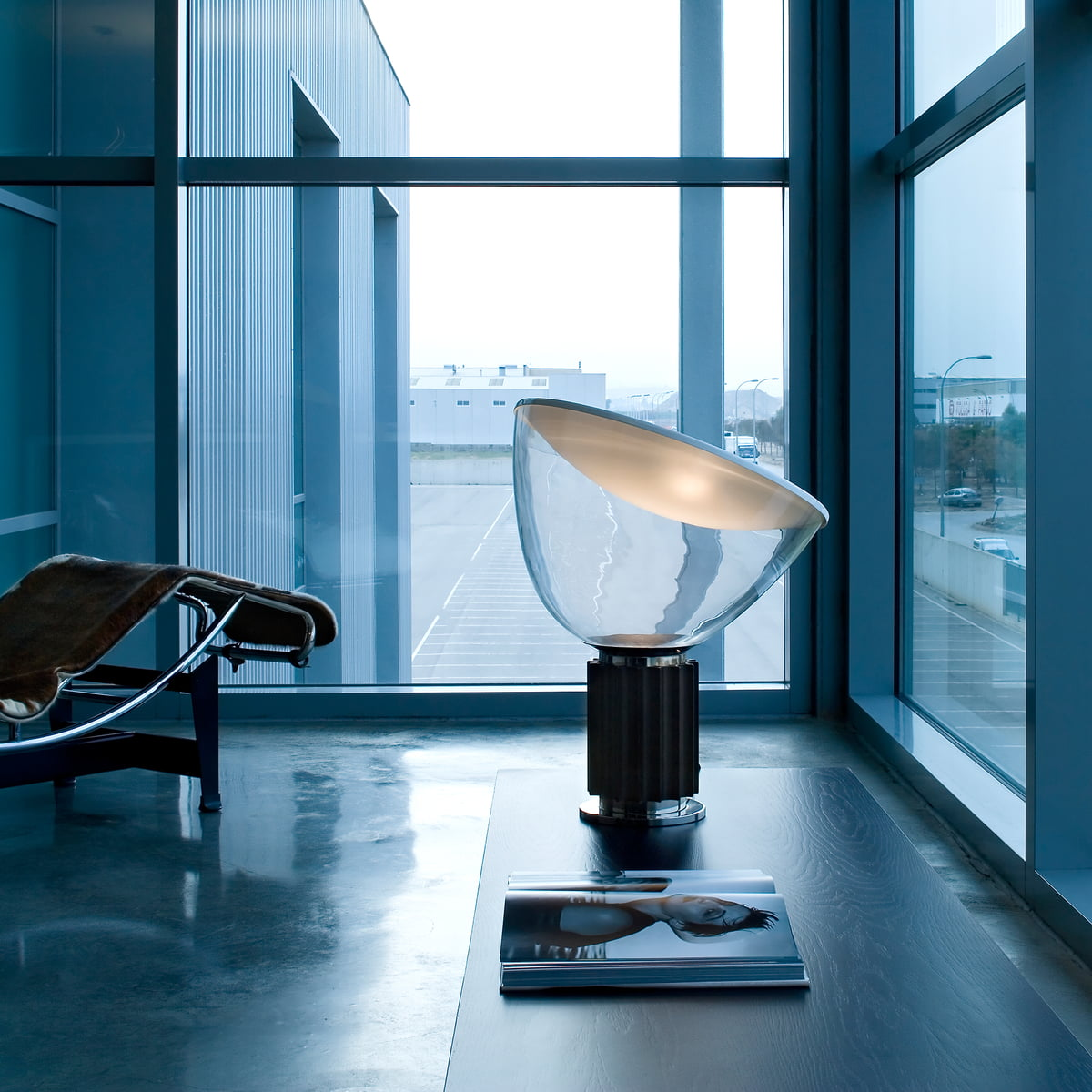 Taccia led table lamp by flos in the shop the taccia led table and floor lamp by flos in black aloadofball Images