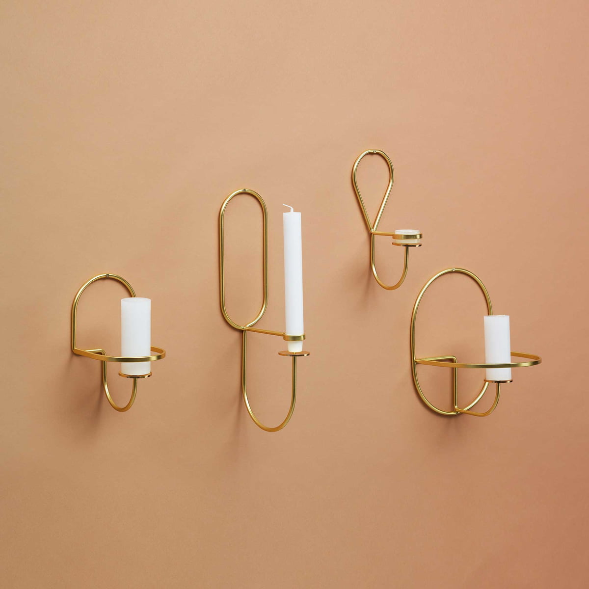 buy the lup wall candleholder brass from hay