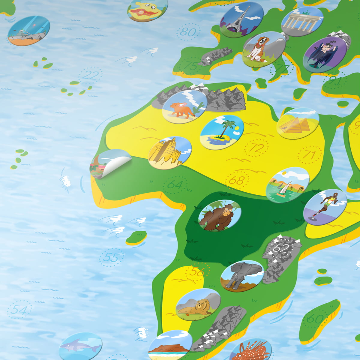 Buy The Childrens World Map By Awesome Maps - World map for kids
