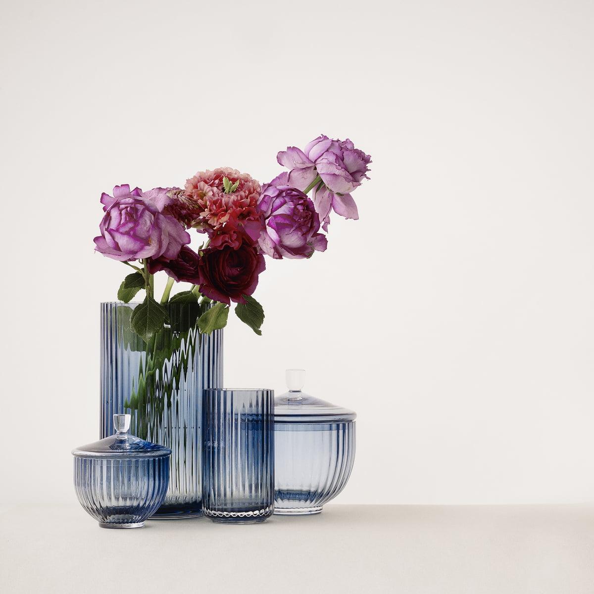 lyngby porcel n glass vase smoke in the shop. Black Bedroom Furniture Sets. Home Design Ideas