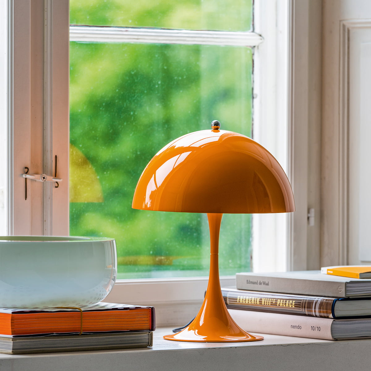 Panthella mini table lamp by louis poulsen louis poulsen panthella mini table lamp orange mozeypictures Image collections
