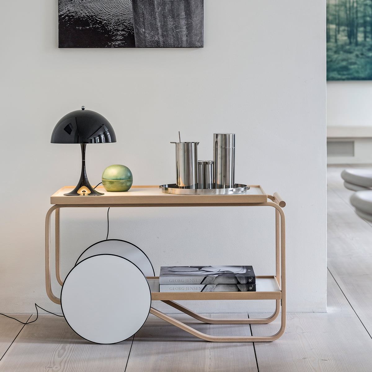 Panthella mini table lamp by louis poulsen louis poulsen panthella mini table lamp artek tea trolley aloadofball Image collections