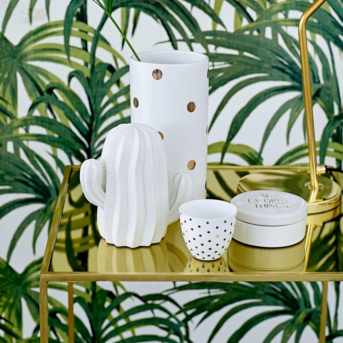 The Bloomingville   Decoration Cacti In Matt White