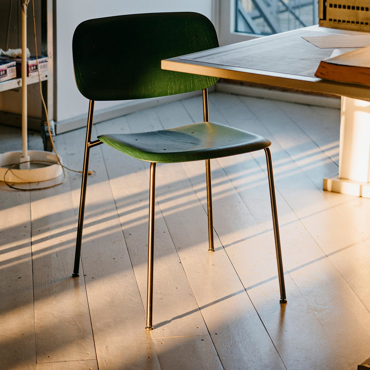 Oak And Black Steel Furniture