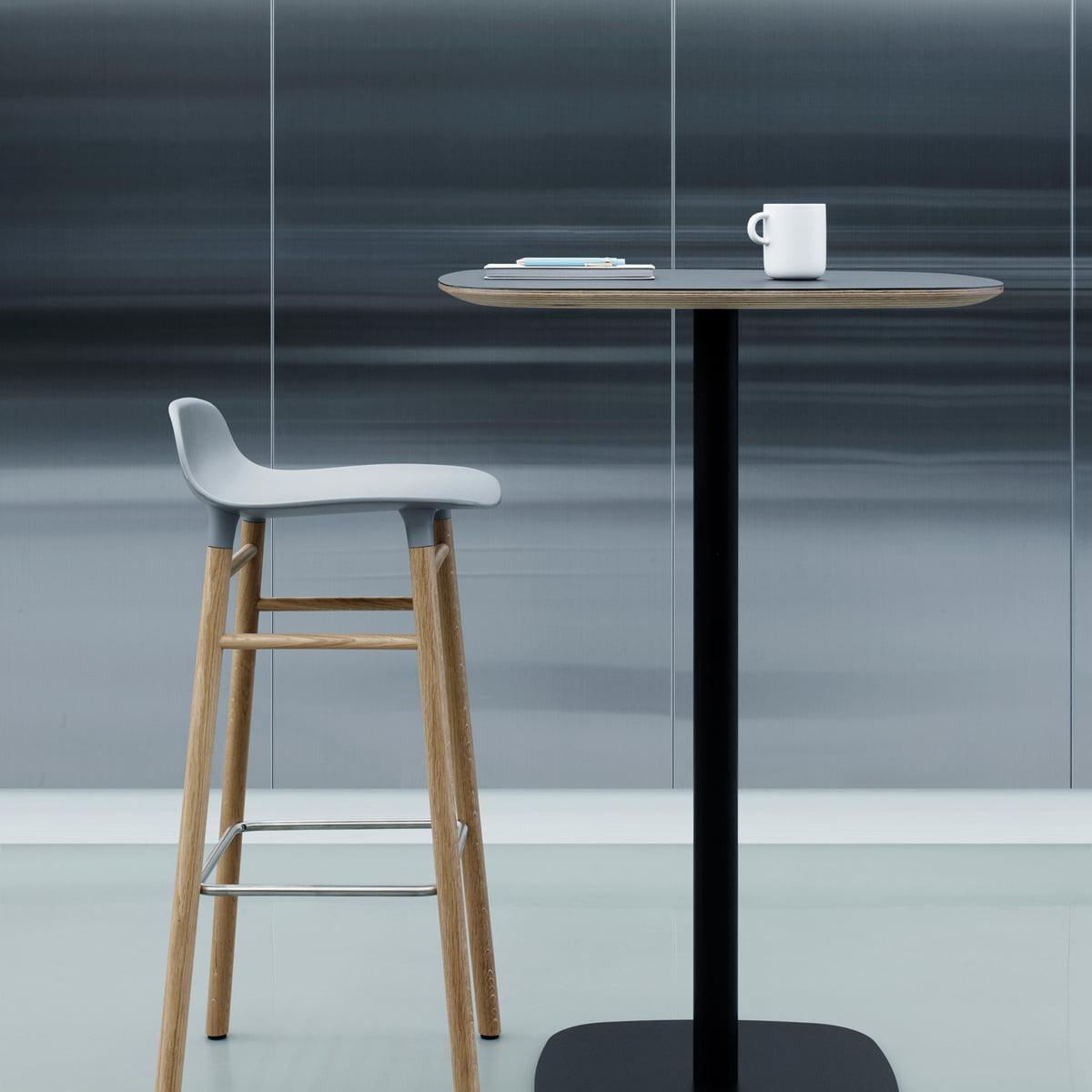 Form Bar Stool 75 (Wood) by Normann Copenhagen
