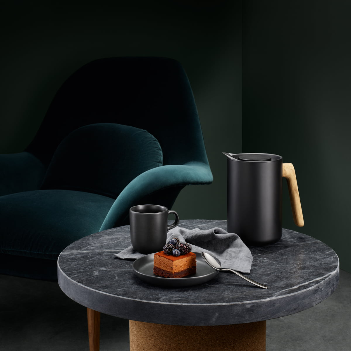 Eva Solo   Nordic Kitchen Thermal Jug, Oak / Black