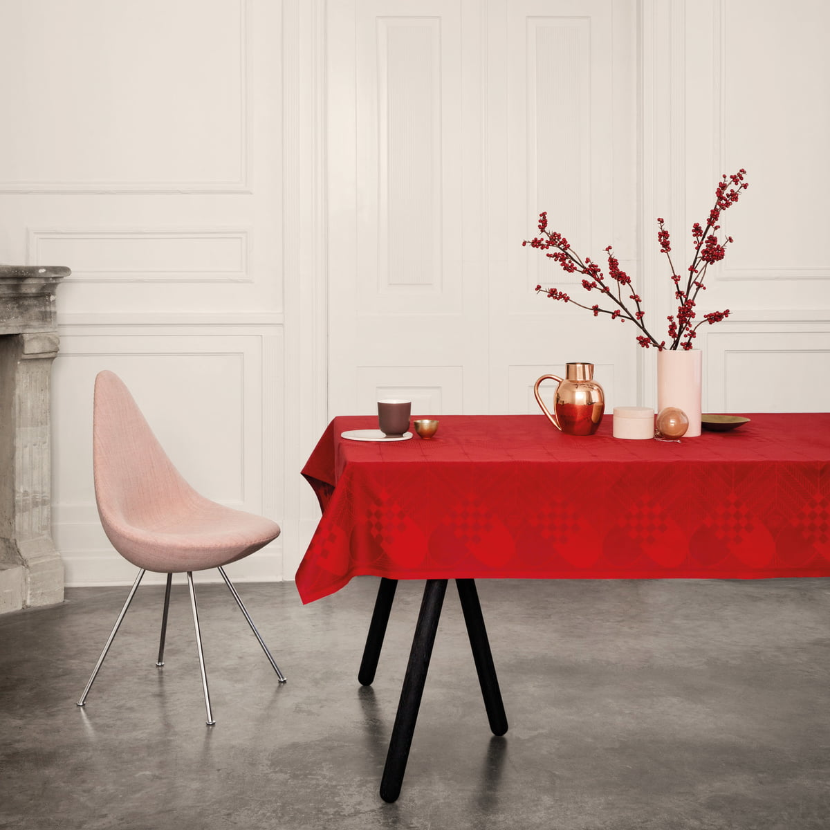 christmas tablecloth by georg jensen damask. Black Bedroom Furniture Sets. Home Design Ideas