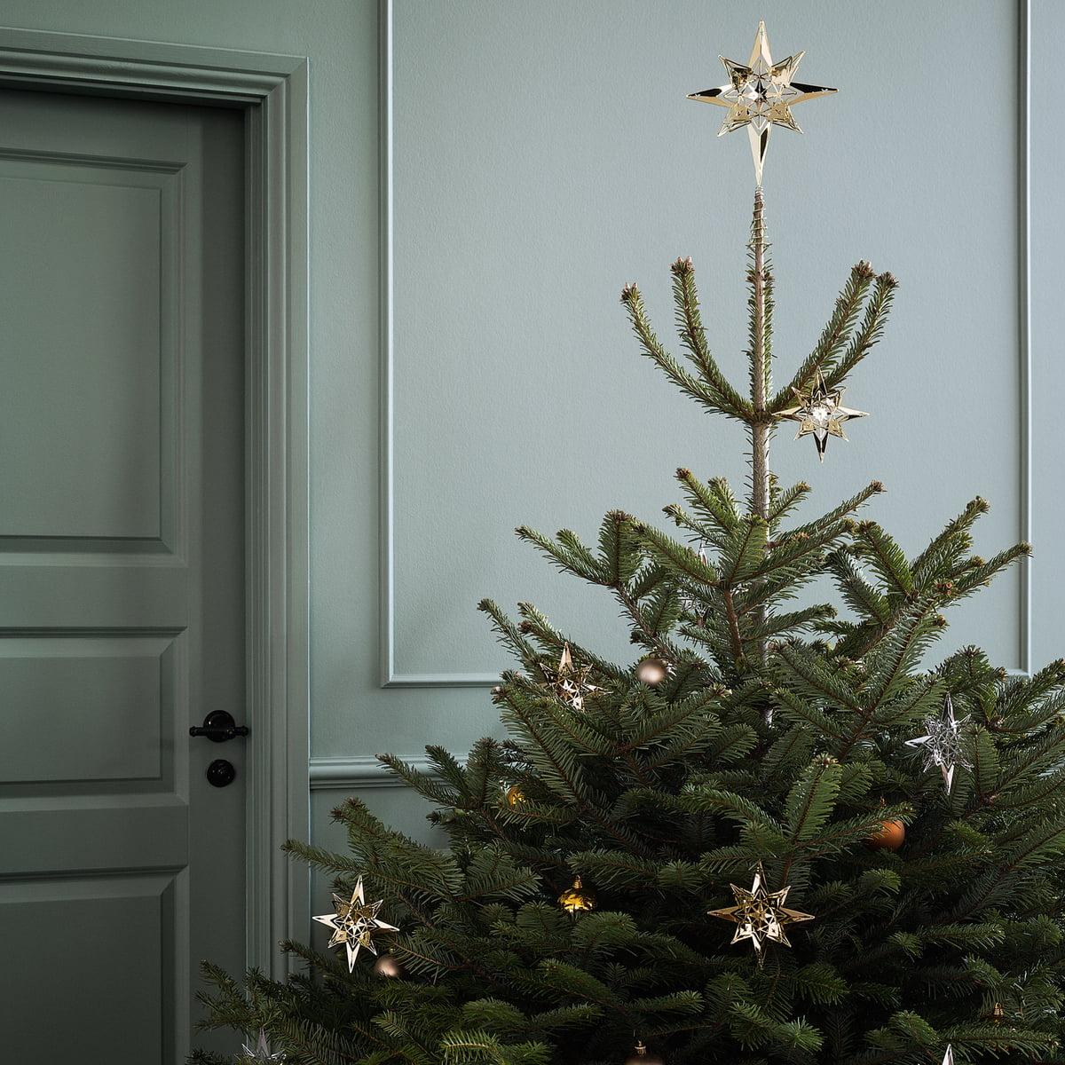 Christmas Tree Star.Rosendahl Tree Top Star H 23 Cm Silver