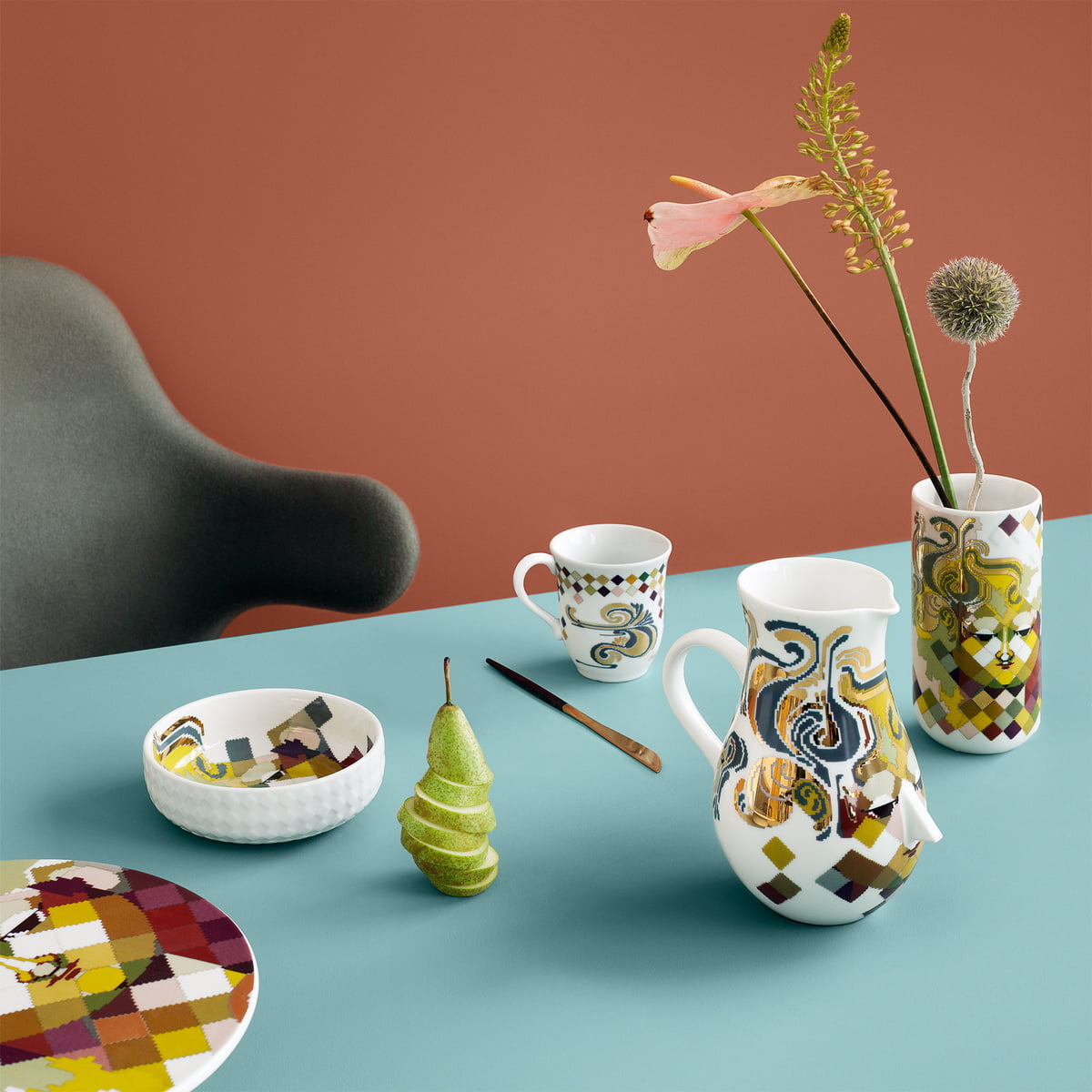 Tapestry mug by bj rn wiinblad connox for Connox com