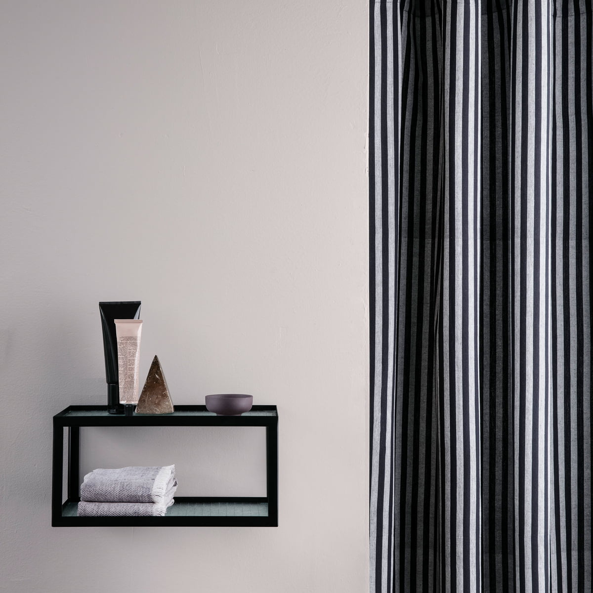 chambray shower curtain by ferm living. Black Bedroom Furniture Sets. Home Design Ideas