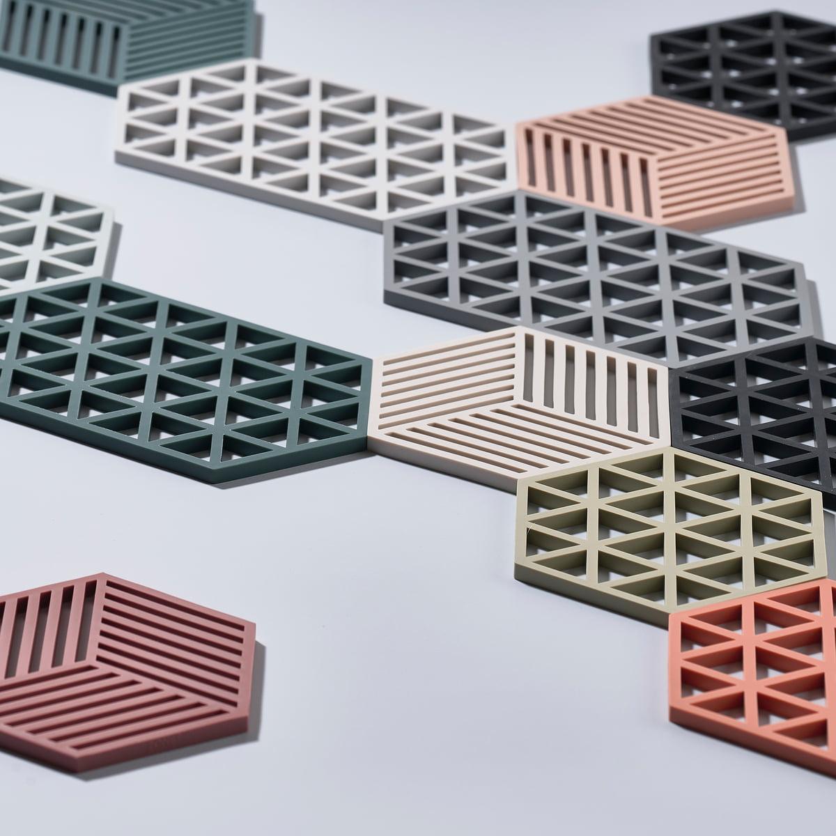 hexagon trivet by zone denmark connox. Black Bedroom Furniture Sets. Home Design Ideas