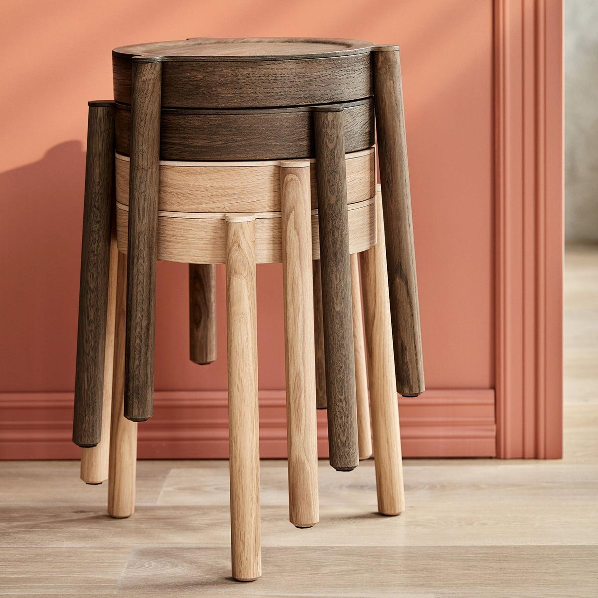 Astounding Northern Pal Stacking Stool Oak Theyellowbook Wood Chair Design Ideas Theyellowbookinfo