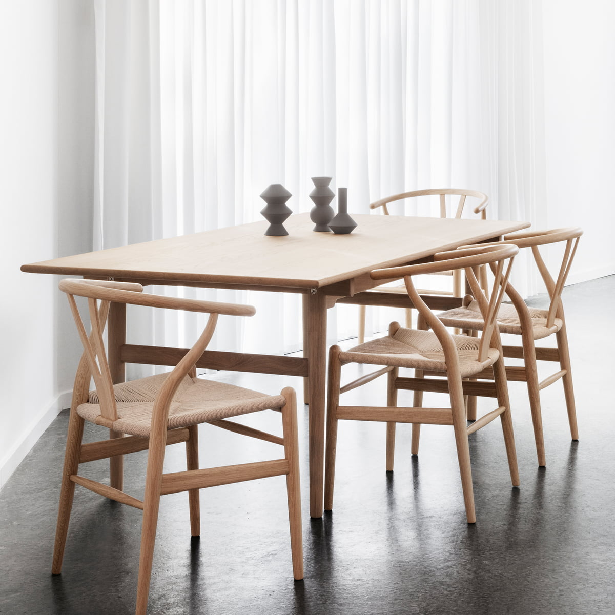 ch327 dining table by carl hansen connox