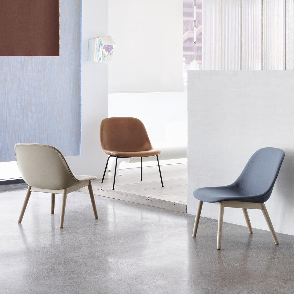 muuto fiber lounge chair wood base connox. Black Bedroom Furniture Sets. Home Design Ideas