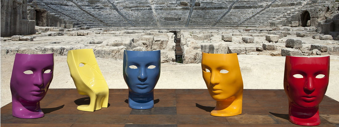 Driade is an Italian furniture manufacturer. The Nemo Armchair stands out due to the colourful shape of a face which is reminiscent of a theatre mask.