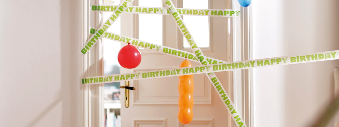 "The german design company Donkey Products produces original, humorous products. For example gift ribbons with different letterings like ""Happy Birthday""."