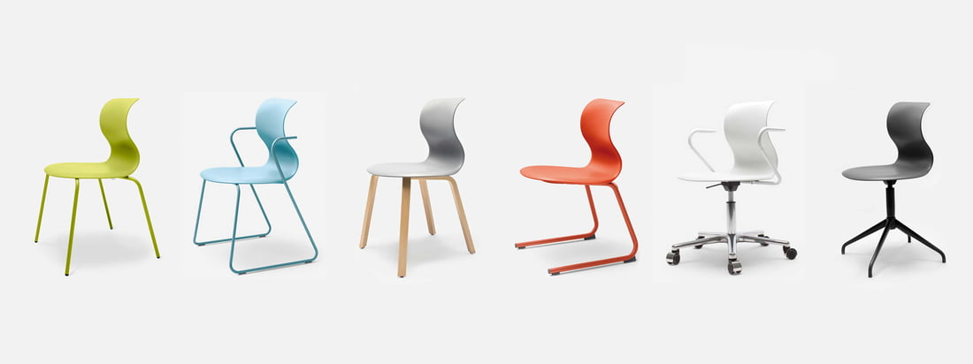 The german company Flötotto produces furniture. The Pro 6 Chairs, available in different variations, are especially known. Buy the colourful chairs in the shop!
