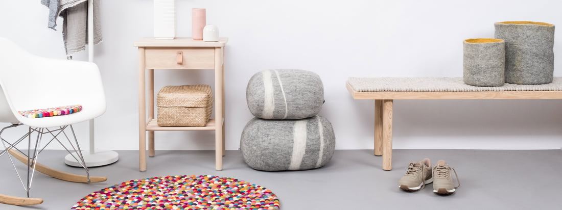 myfelt carpets made of felt and in various forms
