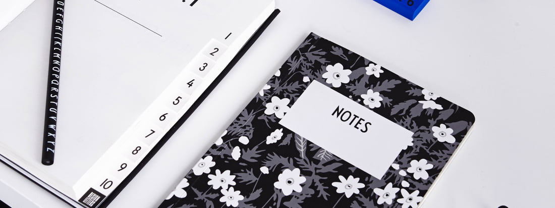 The AJ Vintage Flowers Notebook, the AJ Personal Notebooks A-Z, AJ Royal Vintage Travel Journal and many more office accessories by Design Letters offer lots of space and paper for your ideas and notes.