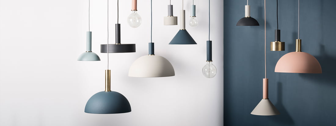 The basis of the Collect Lighting Pendant Lamp Series are the socket pendant luminaires, which can be combined with the lamp shade of your choice. Shapes, colours and sizes can be selected as in a modular system.