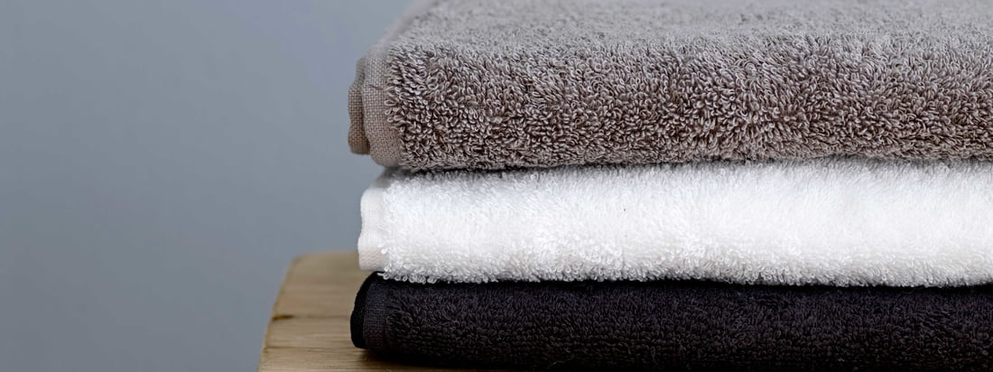 Södahl - Comfort towel, black, white and grey