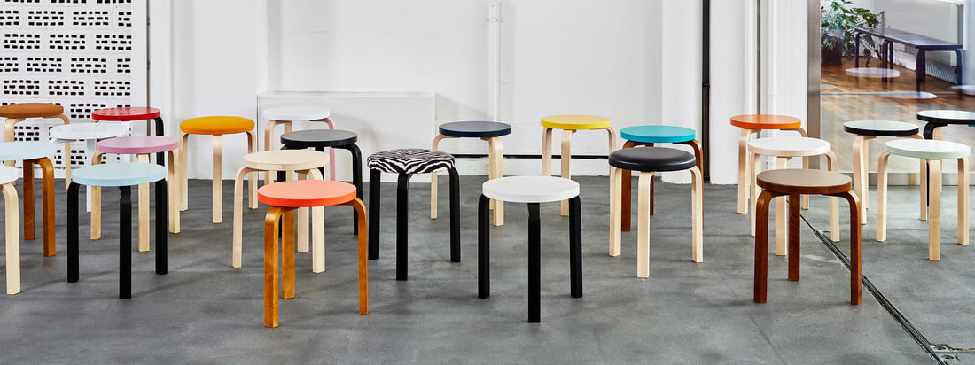 The Stool 60 by Artek is an absolute classic amongst seating furniture and was also repeatedly copied due to its iconic shape.
