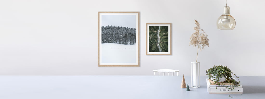 The posters with landscape of artful harmonize in a Gallery Wall with different landscape motives and bring lively nature into your home.