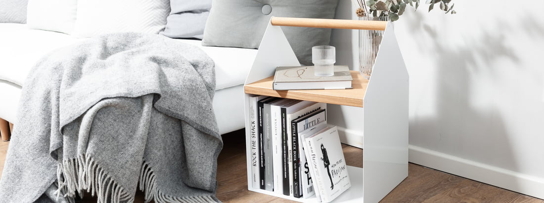 yunic - Tiny House side table, white