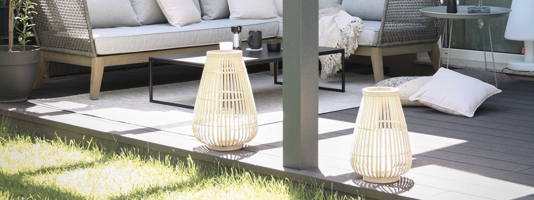 Outdoor ambience - Connox Collection lanterns