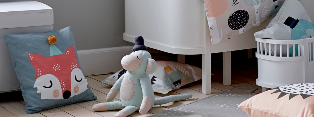 In collaboration with illustrator and designer Michelle Carlslund Södahl has developed the Kids collection. All products are made of soft cotton.