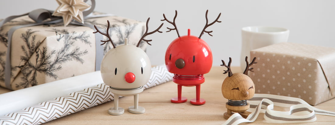 The lovingly designed Christmas figures from Hoptimist are available in a wide variety of versions - whether as a snowman, Santa, as a reindeer, or more.