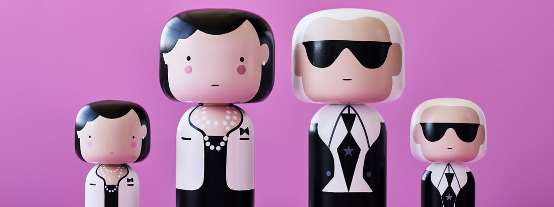 Whether Coco Chanel or Karl Lagerfeld - the Sketch Inc. figures by Lucie Kaas are available in several designs and sizes and are all elaborately hand-painted.