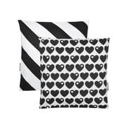 byGraziela - Reversible Pillowcase Hearts 40 x 40cm