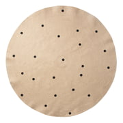 ferm Living - Jute Rug Black Dots
