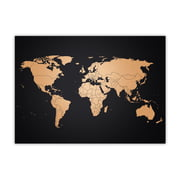Awesome Maps - World Map Copper