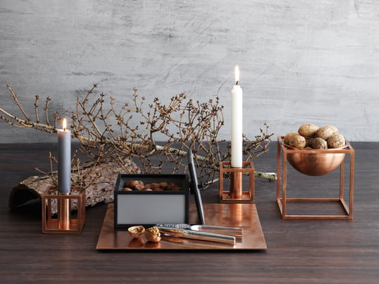The Kubus 1 candleholder and Kubus Bowl from the Danish manufacturer by Lassen have been designed by Mogens Lassen with a view to providing products with a contemporary, functional style.