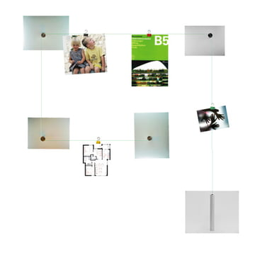 Tightrope picture and note holder
