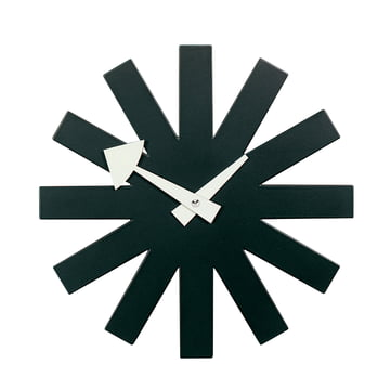 Asterisk Clock black