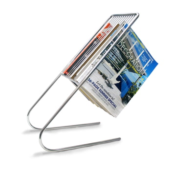 j-me - float magazine rack - chrome