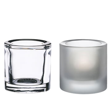 Kivi Tea Light Holder, Set of 2 (clear / frosted) Special edition!