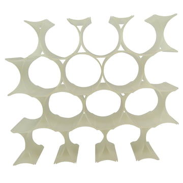 Infinity Wine Rack, white