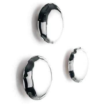 Zieta - Pin Wall Hooks, set of 3, stainless steel