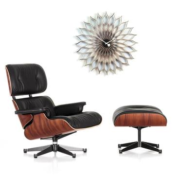 Christmas Offer: Vitra Lounge Chair & Ottoman +Sunflower Clock
