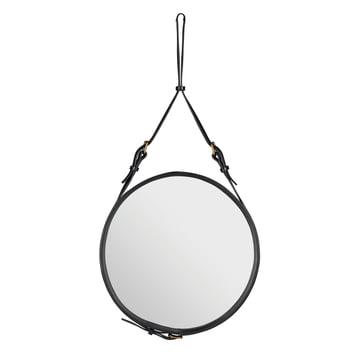 Adnet Mirror Ø 58 cm by Gubi in Black