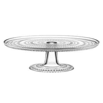 Iittala - Kastehelmi cake plate with base 31.5cm, clear